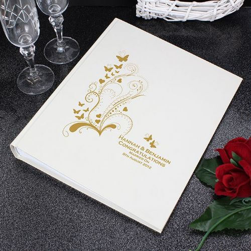 Personalised Gold Butterfly Swirl Traditional Album